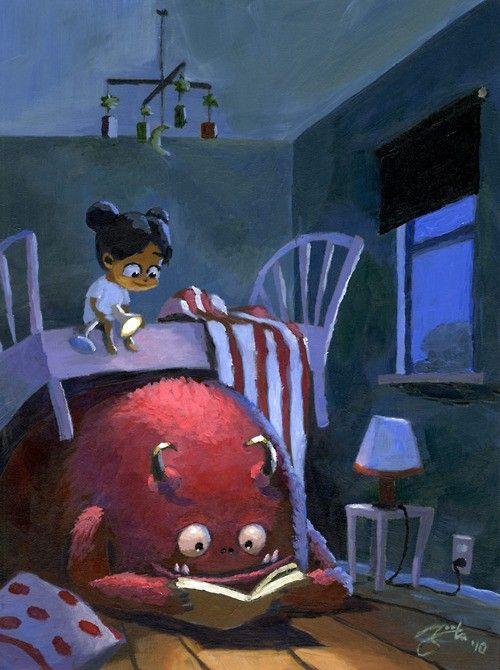 monstruo leyendo